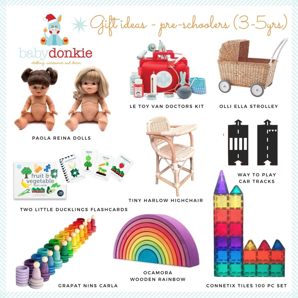 BabyDonkie Christmas gift ideas for 3-5yr old kids