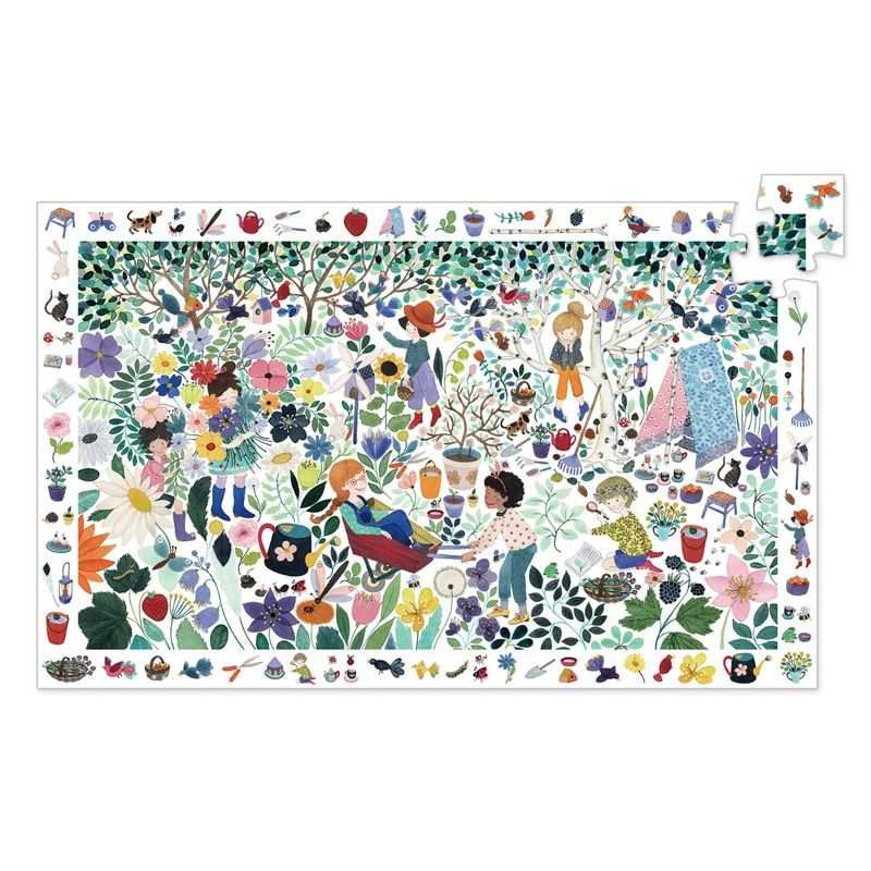 Djeco - 1000 Flowers 100pc Observation Puzzle-Puzzle-BabyDonkie