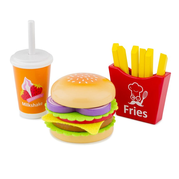 New Classic Toys - Fast Food Burger Set