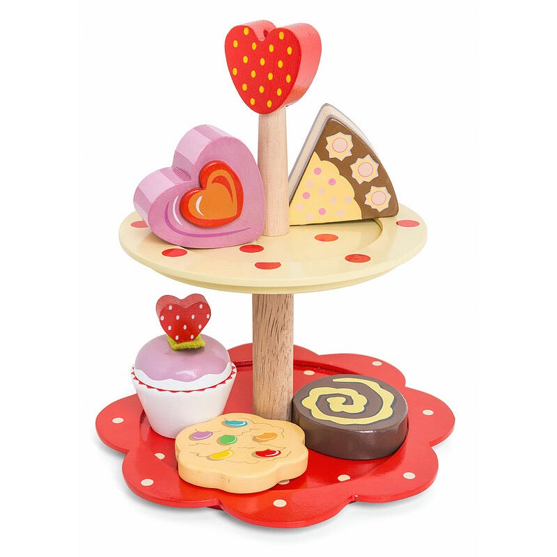 Le Toy Van HoneyBake Wooden 2 Tier Cake Stand-Toys-BabyDonkie