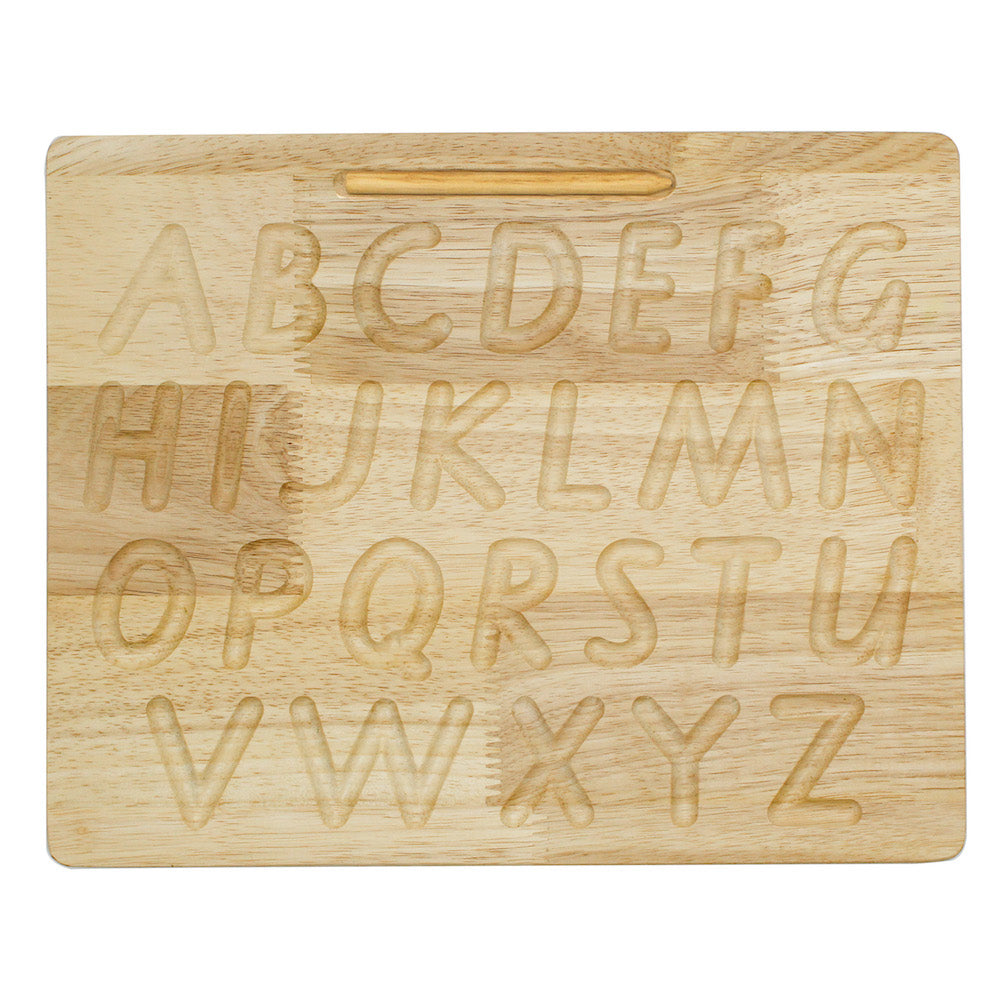 QToys Capital Letter Tracing Board-Wooden Toy-BabyDonkie