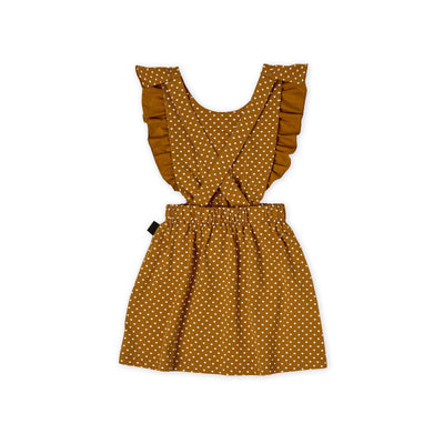 Kapow Kids Straight From The Heart Ruffle Pinafore Dress-Clothing-BabyDonkie