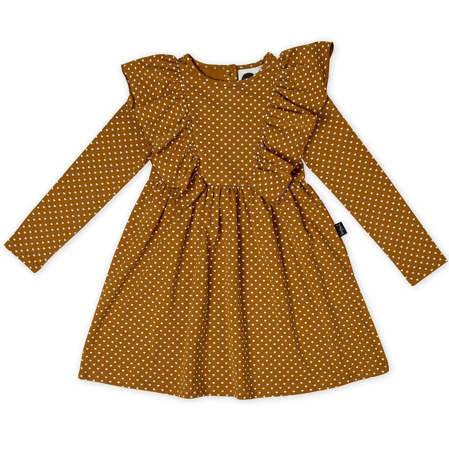 Kapow Kids Straight From The Heart Ruffle Waisted Dress-BabyDonkie