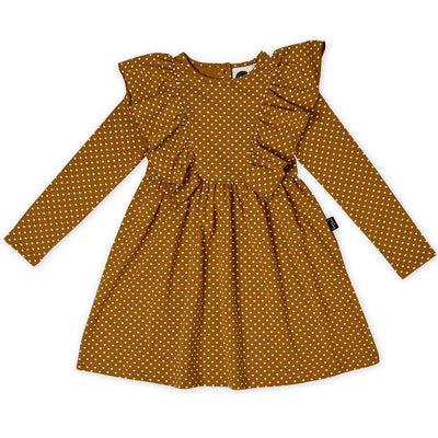 Kapow Kids Straight From The Heart Ruffle Waisted Dress-Clothing-BabyDonkie
