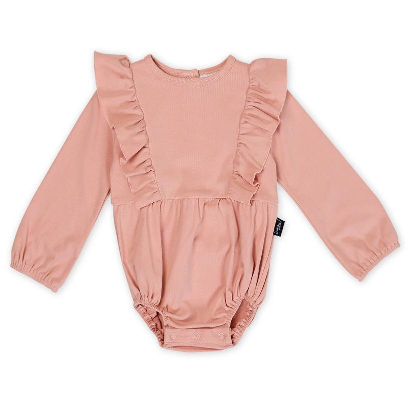 Kapow Kids Dusty Rose Balloon Romper-Clothing-BabyDonkie