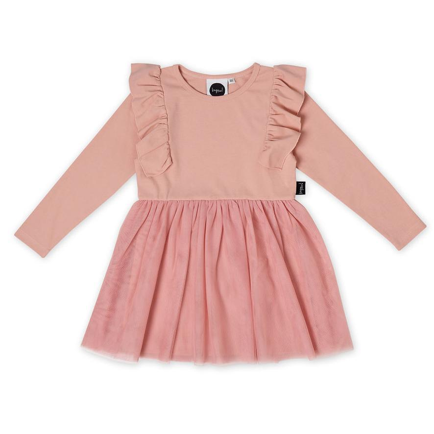 Kapow Kids Dusty Rose Girls Tutu Dress-Clothing-BabyDonkie