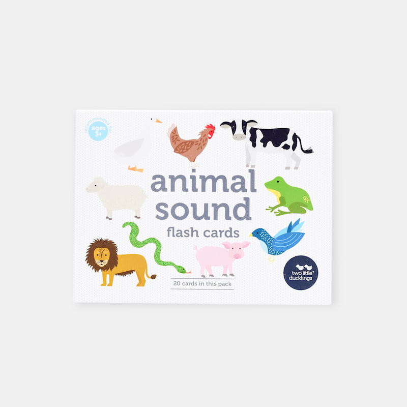 Two Little Ducklings Animal Sound Flash Cards-BabyDonkie