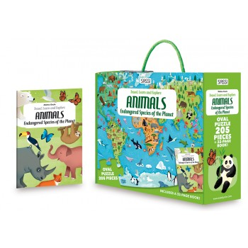 Sassi Travel Learn and Explore - Endangered Species of the Planet - 205 pcs