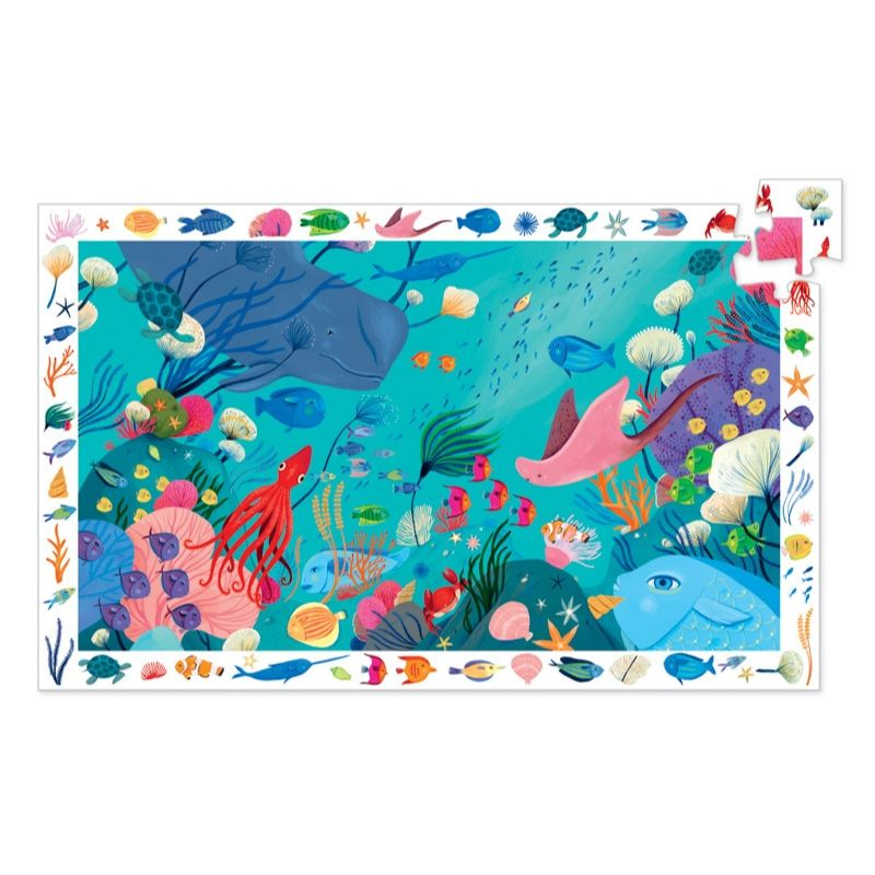 Djeco - Aquatic 54pc Observation Puzzle-Puzzle-BabyDonkie