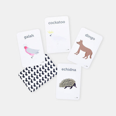 Two Little Ducklings Aussie Animal Flash Cards-BabyDonkie