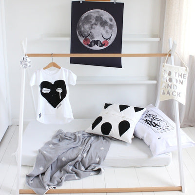 Pop Factory Shop Pillow Case - Ticket To The Moon-Cushion-BabyDonkie