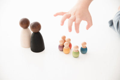 Grapat 2 Nins Adults - Dark Wood-Wooden Toy-BabyDonkie
