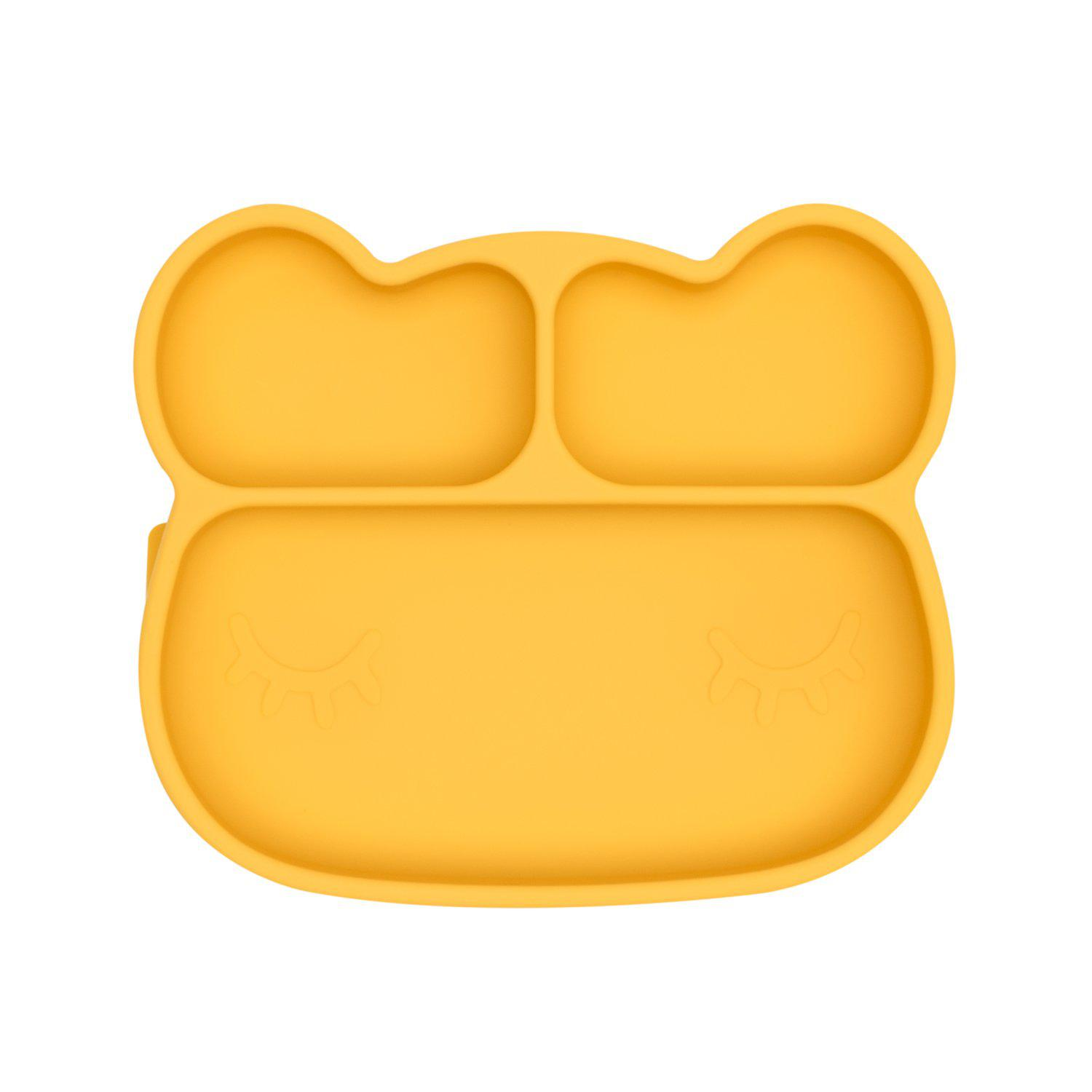 We Might Be Tiny - Bear Stickie Plate - Yellow-BabyDonkie