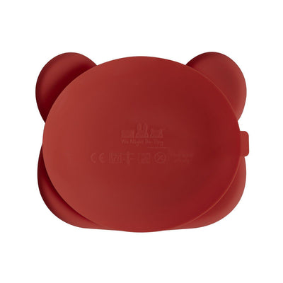 We Might Be Tiny - Bear Stickie Plate - Rust-BabyDonkie
