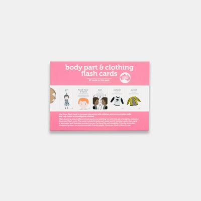 Two Little Ducklings Body Parts and Clothing Flash Cards