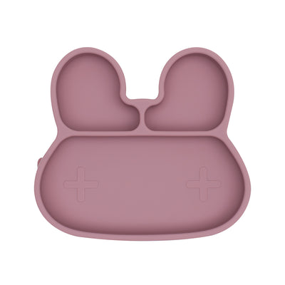 We Might Be Tiny - Bunny Stickie Plate - Dusty Rose-BabyDonkie