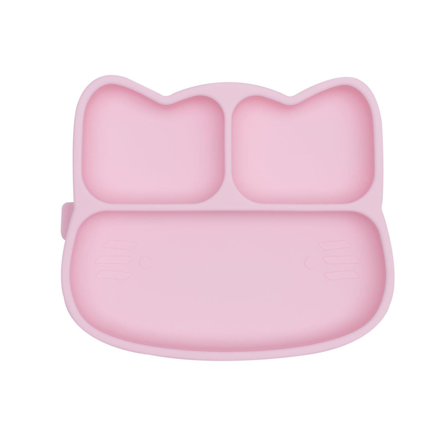 We Might Be Tiny - Cat Stickie Plate - Powder Pink-BabyDonkie