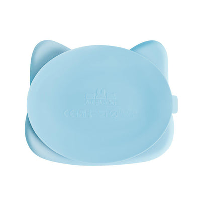 We Might Be Tiny - Cat Stickie Plate - Powder Blue-BabyDonkie