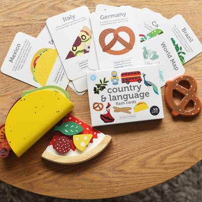Two Little Ducklings Country and Language Flash Cards-BabyDonkie