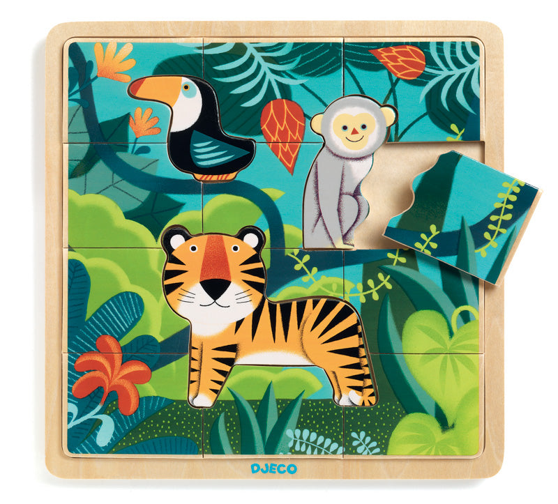 Djeco - Wooden Jungle Puzzle