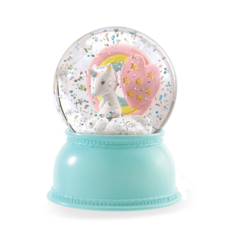 Djeco Unicorn Night Light Globe-Light-BabyDonkie