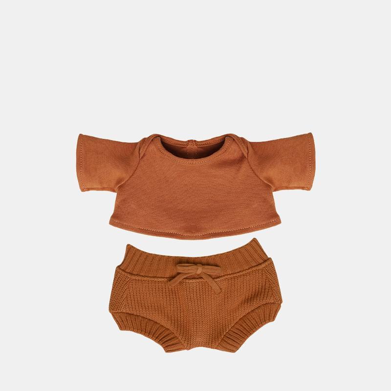 Olli Ella - Dinkum Doll Snuggly Set - Toffee