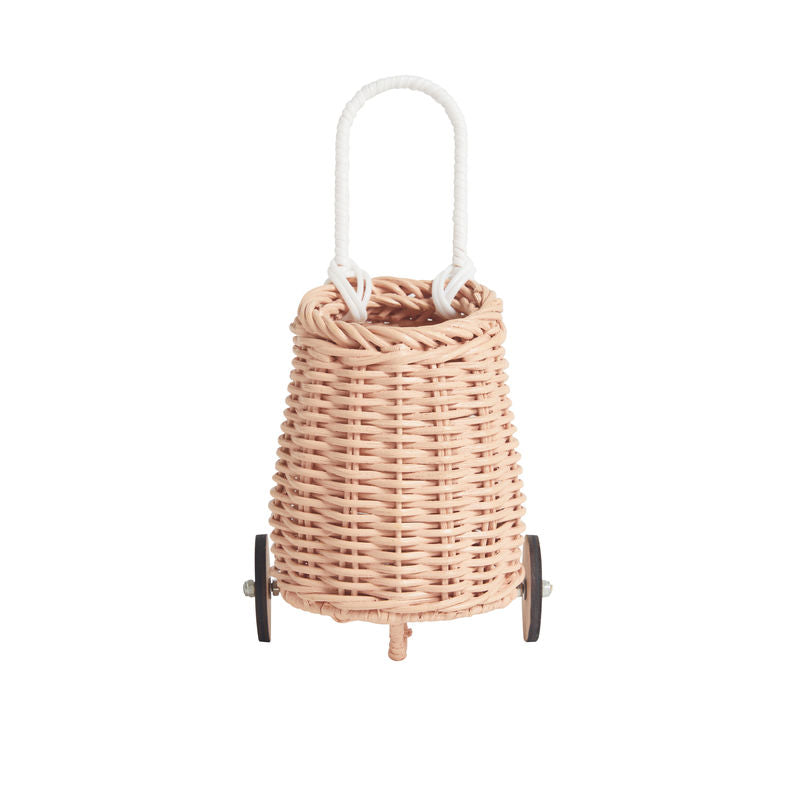 Olli Ella Doll Luggy Basket - Rose