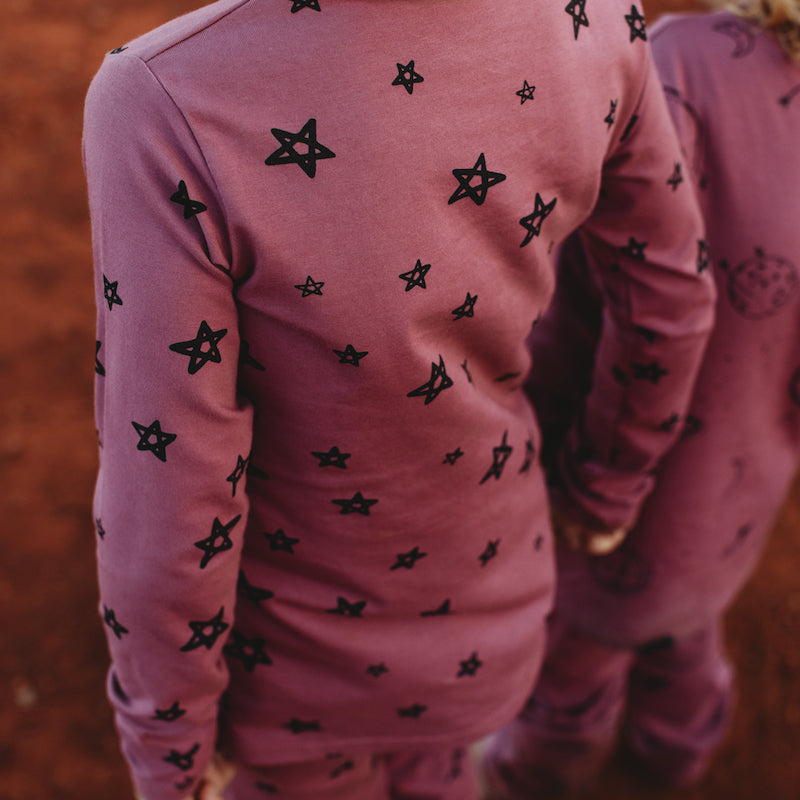 G.Nancy Celestial Star Long Sleeve PJ Set-Clothing-BabyDonkie