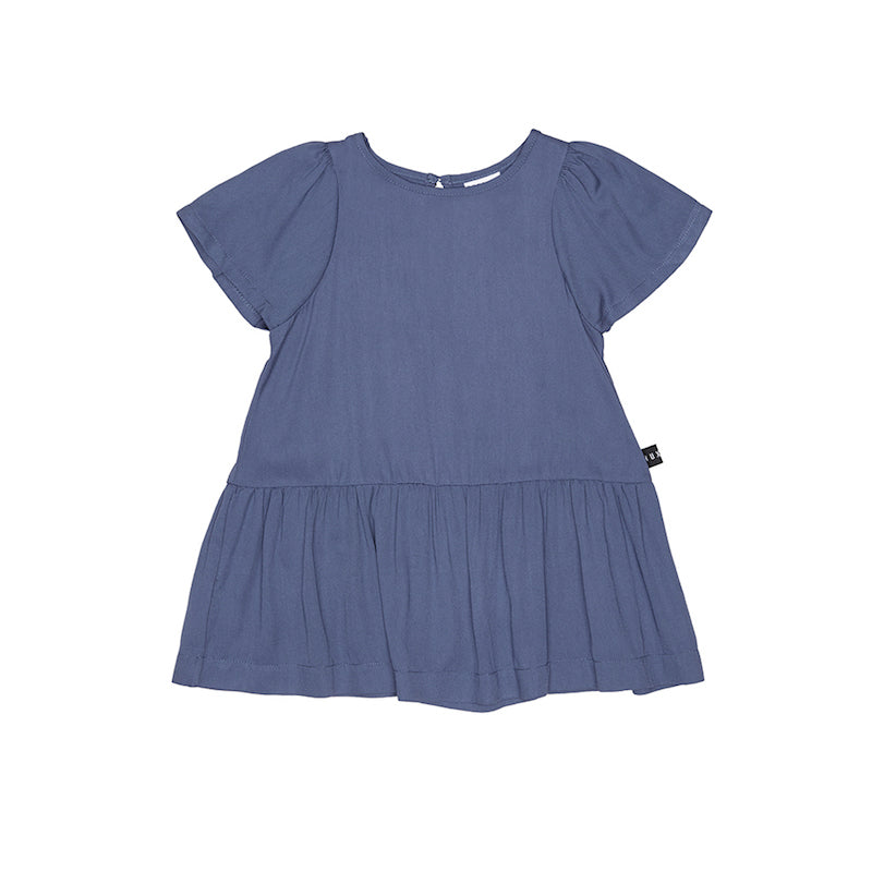 Huxbaby Navy Mia Dress-Clothing-BabyDonkie