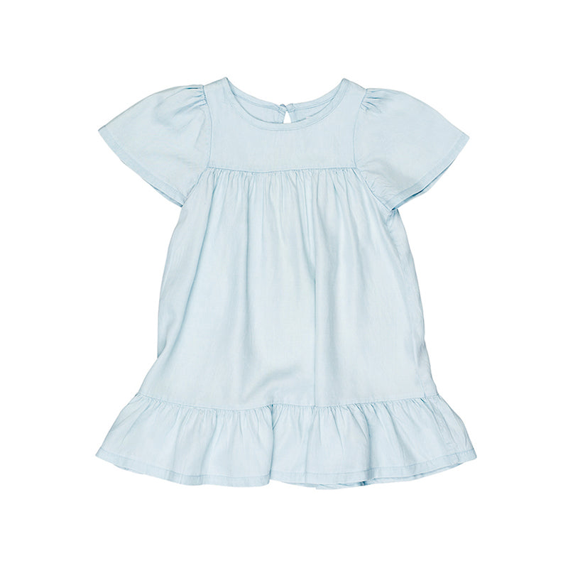 Huxbaby Leah Dress - Chambray-Clothing-BabyDonkie