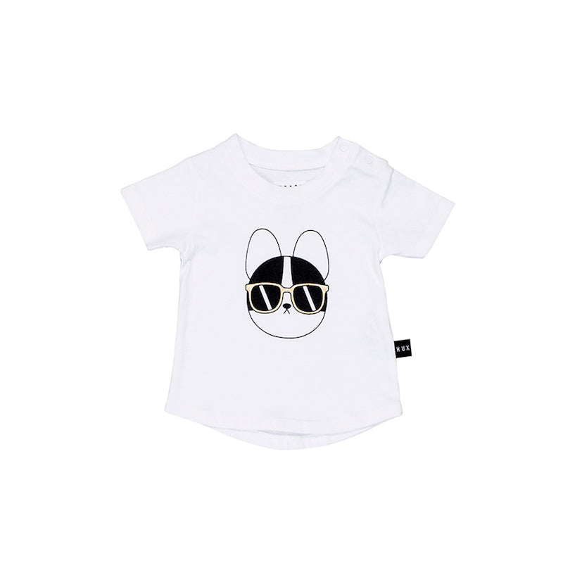 Huxbaby French Shades T- Shirt - White-Clothing-BabyDonkie