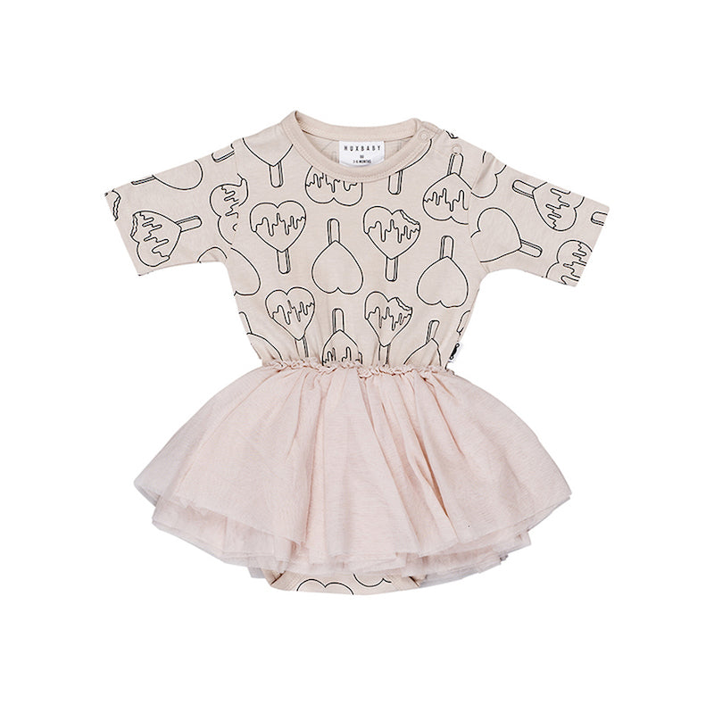 Huxbaby Heart Pop Ballet Onesie-Clothing-BabyDonkie
