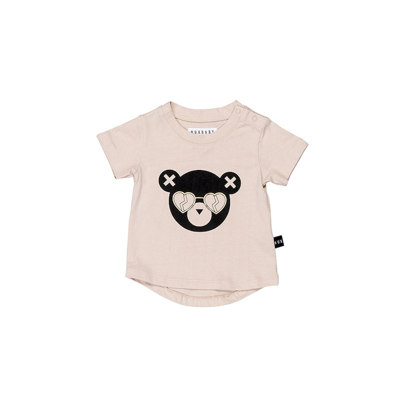 Huxbaby Heart Shades T- Shirt - Petal-Clothing-BabyDonkie