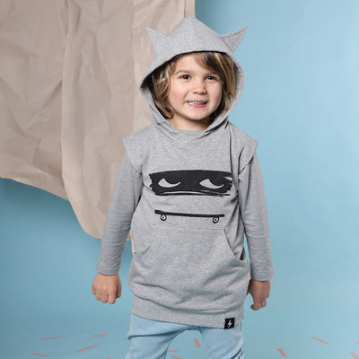 Kapow Kids Skater Dude Hooded Vest-Clothing-BabyDonkie