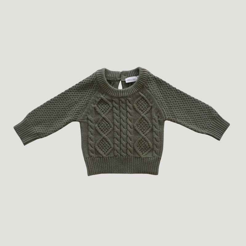 Jamie Kay Cable Knit - Laurel-Clothing-BabyDonkie