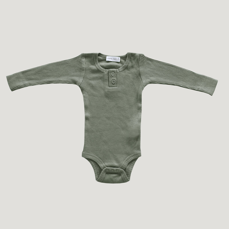 Jamie Kay - Cotton Modal Essentials Bodysuit - Laurel-Clothing-BabyDonkie