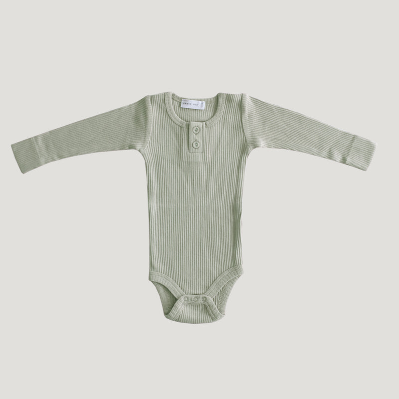 Jamie Kay - Cotton Modal Essentials Bodysuit - Sage-Clothing-BabyDonkie