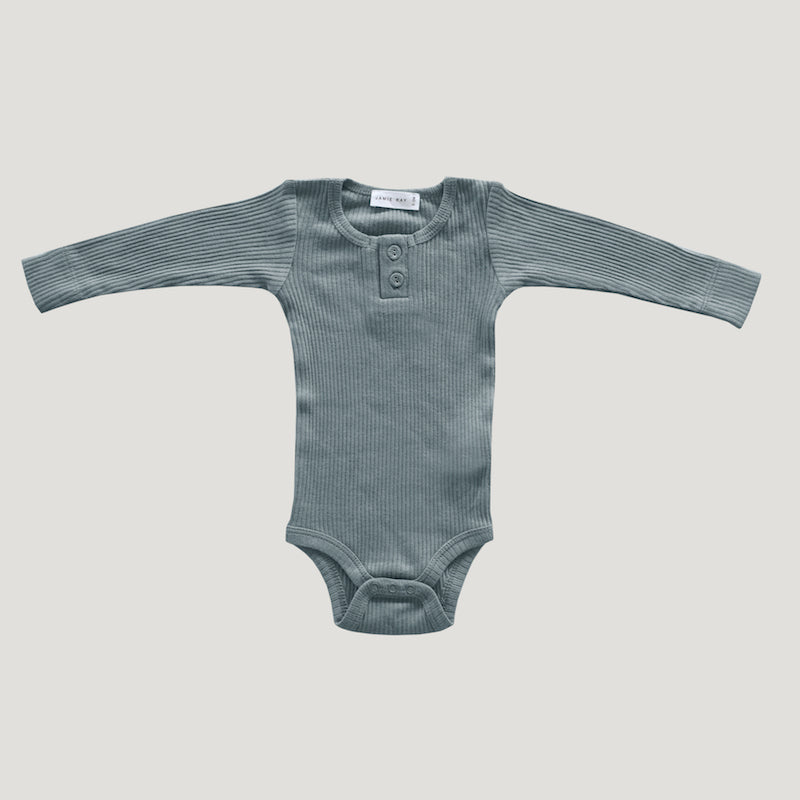 Jamie Kay - Cotton Modal Essentials Bodysuit - Storm-Clothing-BabyDonkie