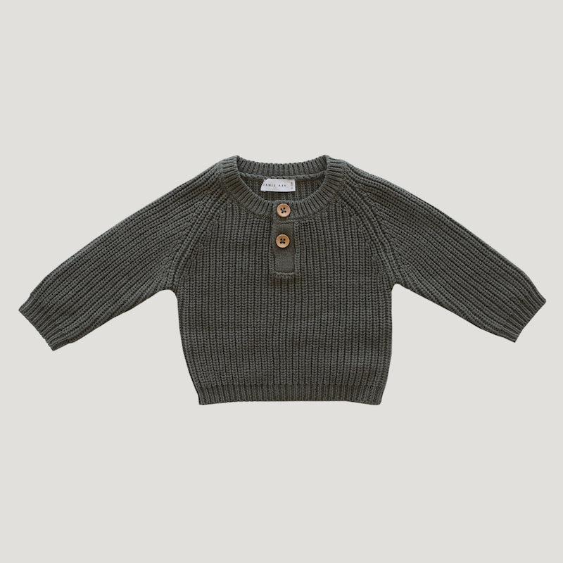 Jamie Kay Leo Knit Crew - Laurel-Clothing-BabyDonkie