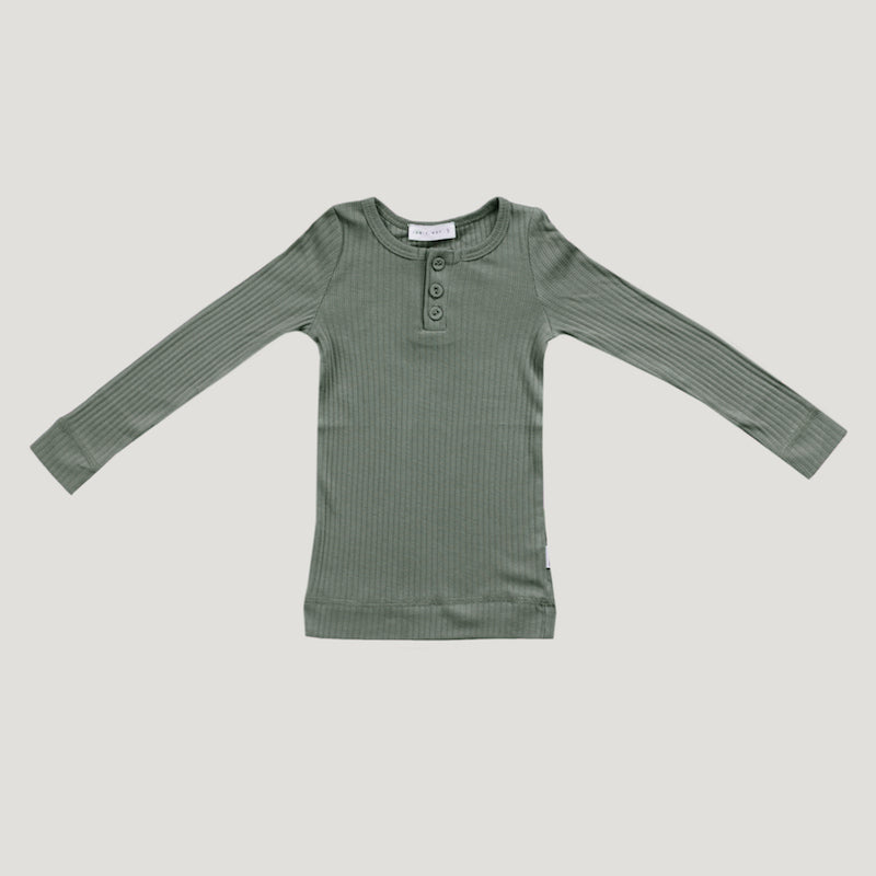 Jamie Kay Cotton Modal Henley - Laurel-Clothing-BabyDonkie
