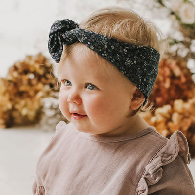 Jamie Kay Organic Cotton Headband - Winter Floral-Accessories-BabyDonkie