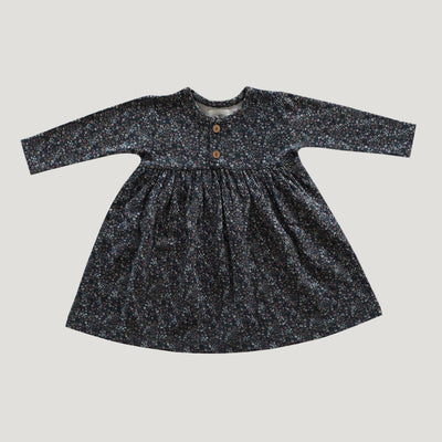 Jamie Kay Organic Cotton Dress - Winter Floral-Clothing-BabyDonkie