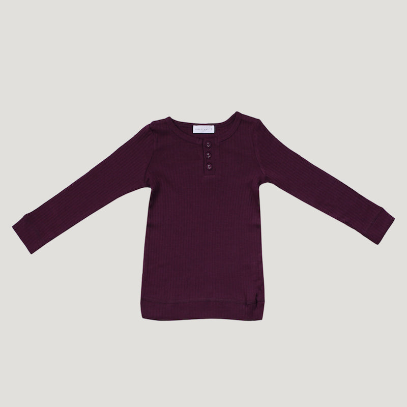 Jamie Kay Cotton Rib Henley - Fig-Clothing-BabyDonkie