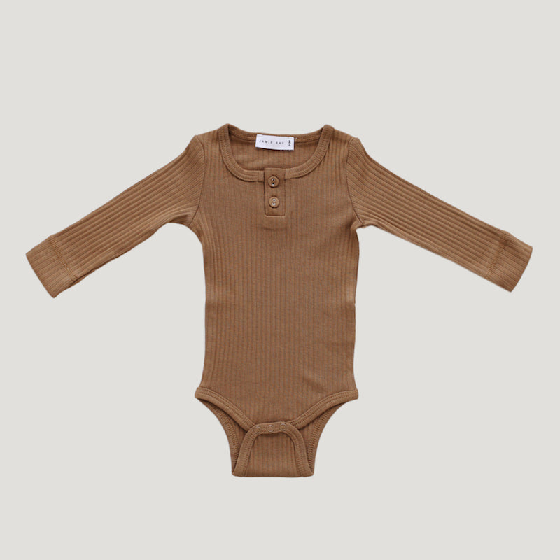 Jamie Kay - Cotton Modal Essentials Bodysuit - Bronze-Clothing-BabyDonkie
