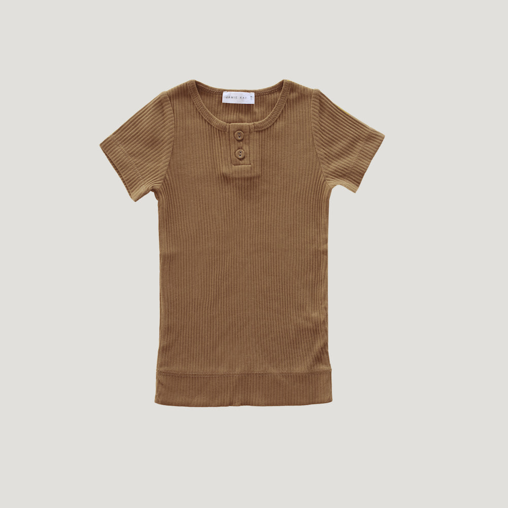 Jamie Kay Cotton Tee - Bronze-Clothing-BabyDonkie