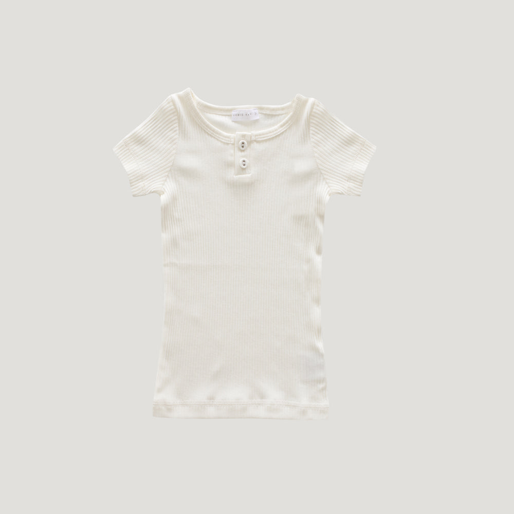 Jamie Kay Cotton Tee - Milk-Clothing-BabyDonkie