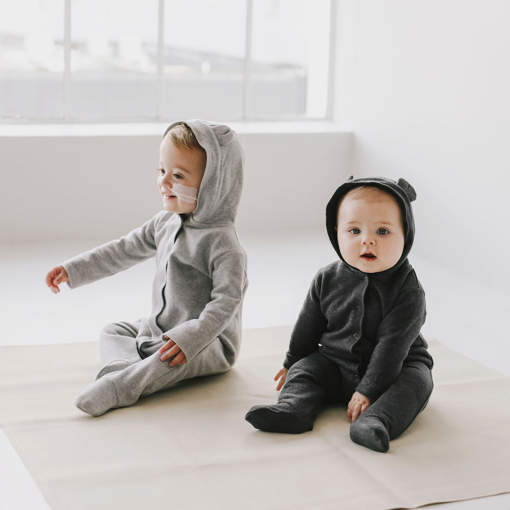 Jamie Kay Grace - Bear Suit - Light Grey Marle-BabyDonkie