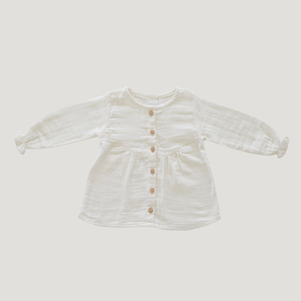 Jamie Kay Grace Organic Cotton Muslin Lila Blouse - Cloud