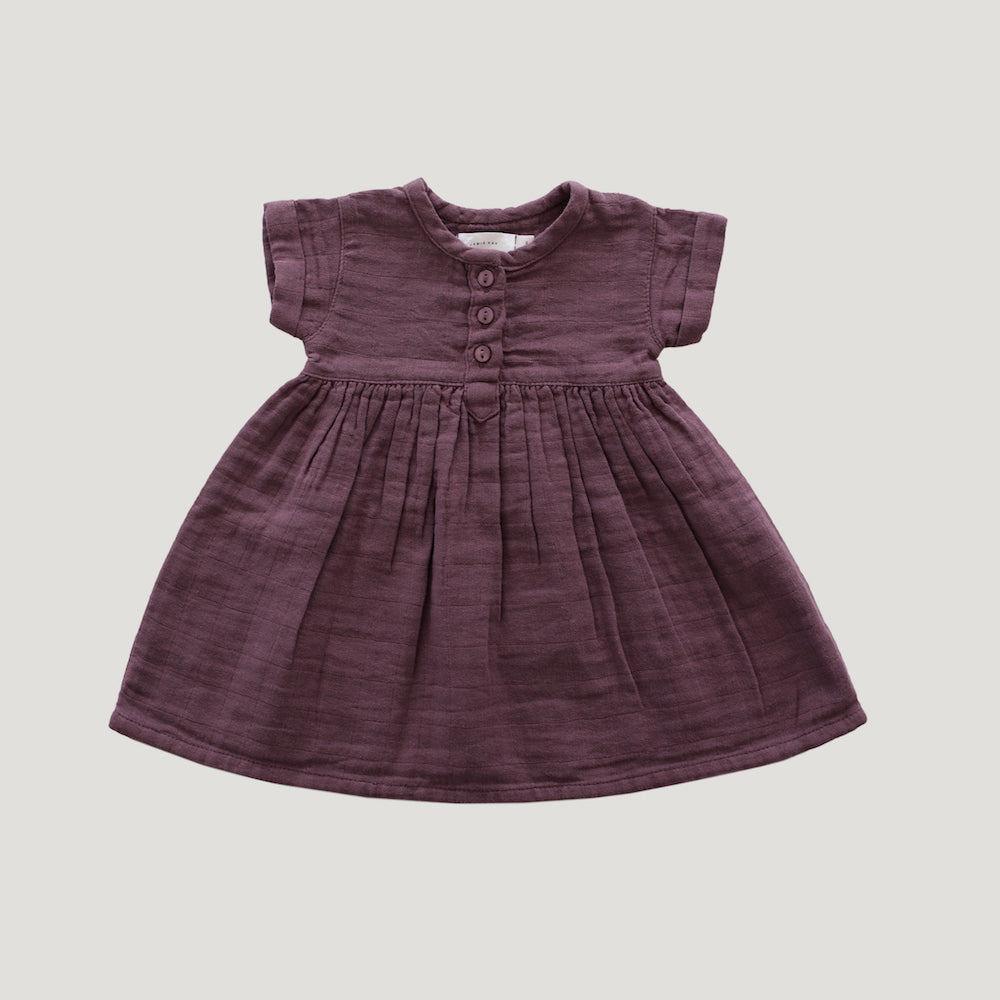 Jamie Kay Grace - Organic Cotton Short Sleeve Dress - Twilight-BabyDonkie
