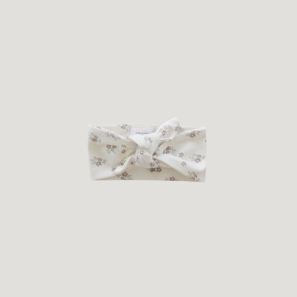 Jamie Kay Grace Organic Cotton Headband - Rose Floral